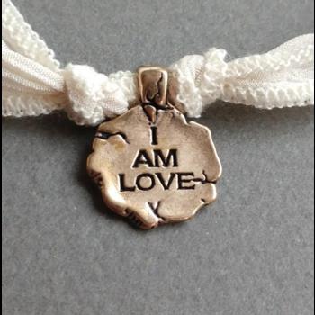 "Catherine Michiels Charm, "" I Am Love"", Bronze"