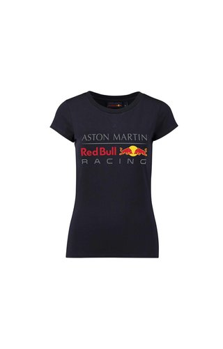 Red Bull Racing RBR Dames Large Logo T-shirt Blauw