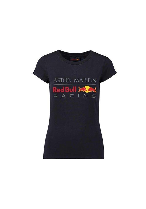 RBR Dames Large Logo T-shirt Blauw