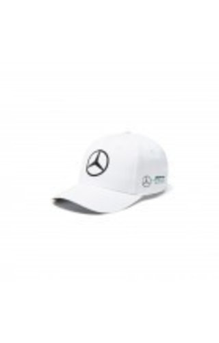 Mercedes Cap Lewis Hamilton Wit bol