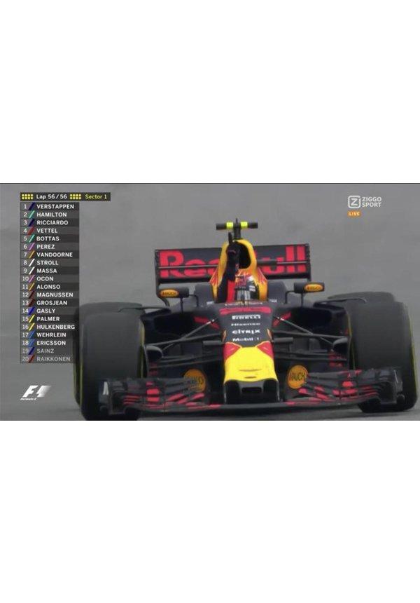 Max Verstappen Schaalmodel Spark 1/18 1e plaats Maleisie 2017