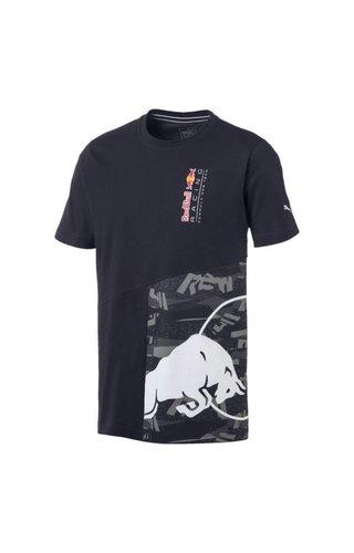 PUMA RBR Double Bull T-shirt Blauw Puma 2019