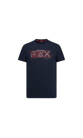 Red Bull Racing Max Verstappen Graphic logo shirt blauw