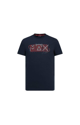 Red Bull Racing Max Verstappen Graphic logo shirt blauw