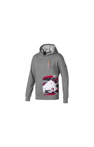 PUMA RBR Double Bull Hoodie Grey Red