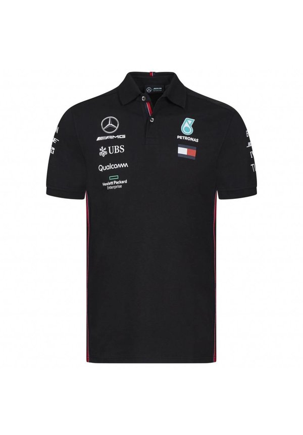 Mercedes Polo F1 Team Zwart 2019