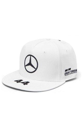 Mercedes Mercedes Team Lewis Hamilton Driver Flatbrim Cap Wit 2019