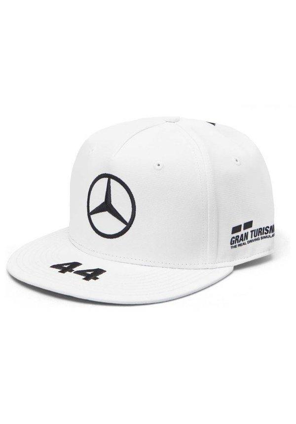 Mercedes Team Lewis Hamilton Driver Flatbrim Cap Wit 2019