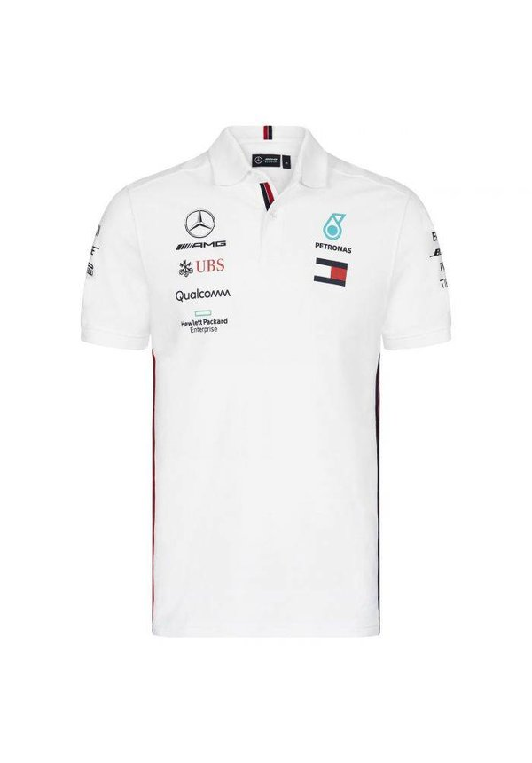 Mercedes Polo F1 Team Wit 2019
