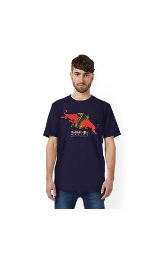 PUMA Red Bull Racing Double Bull Tee Blauw 2019