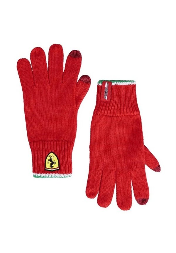 Ferrari Knitted Touch Gloves Red