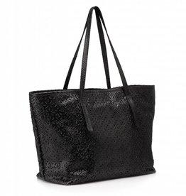 Tote Bag hand carved Black