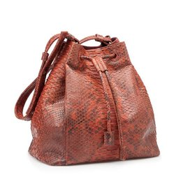 Bucket Bag Brown/Orange