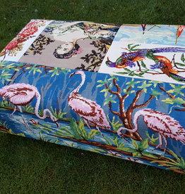 Retro & Vintage Poef/ hocker Flamingo