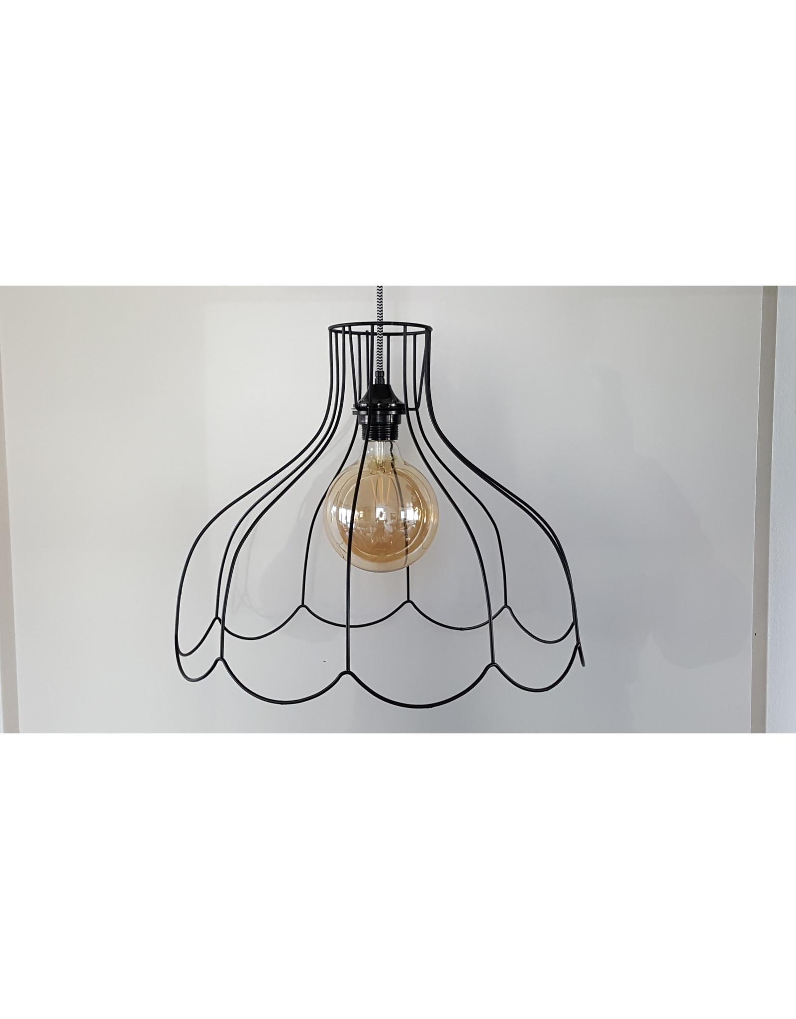 Guinevere Vintage draadlamp frame  zwart