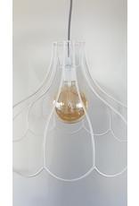 Guinevere Vintage draadlamp frame wit
