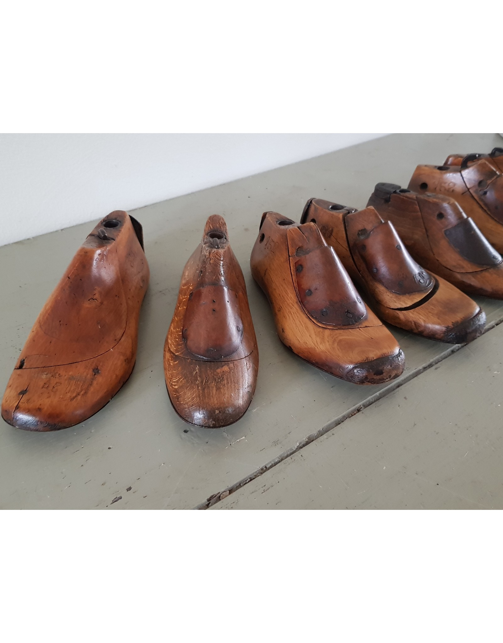 Vintage houten schoenleesten