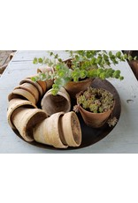 Aardewerken oude plantenpotje