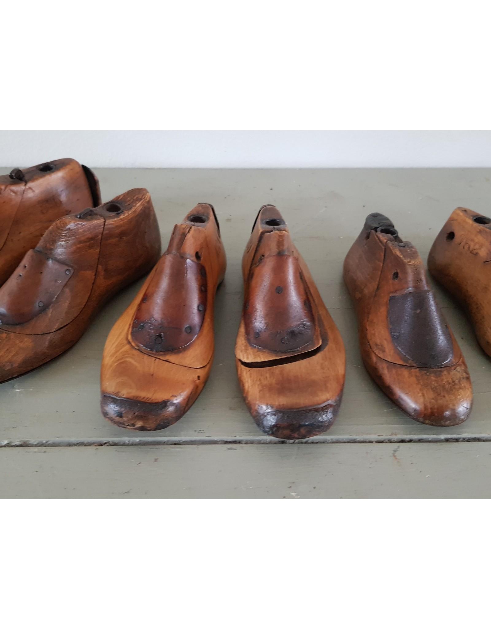 Brocante vintage houten schoenleest schoenmal