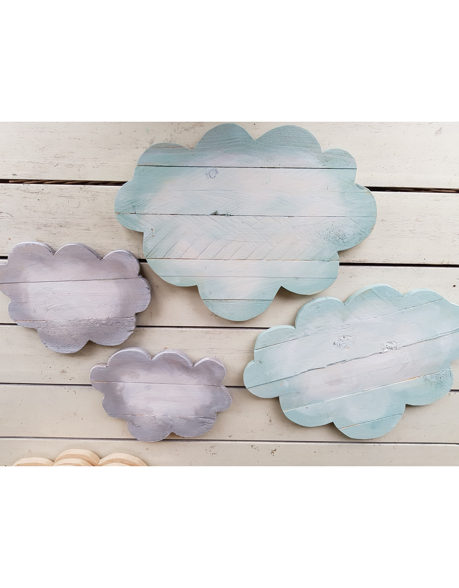 Guinevere Wolken lamp, houten wolk