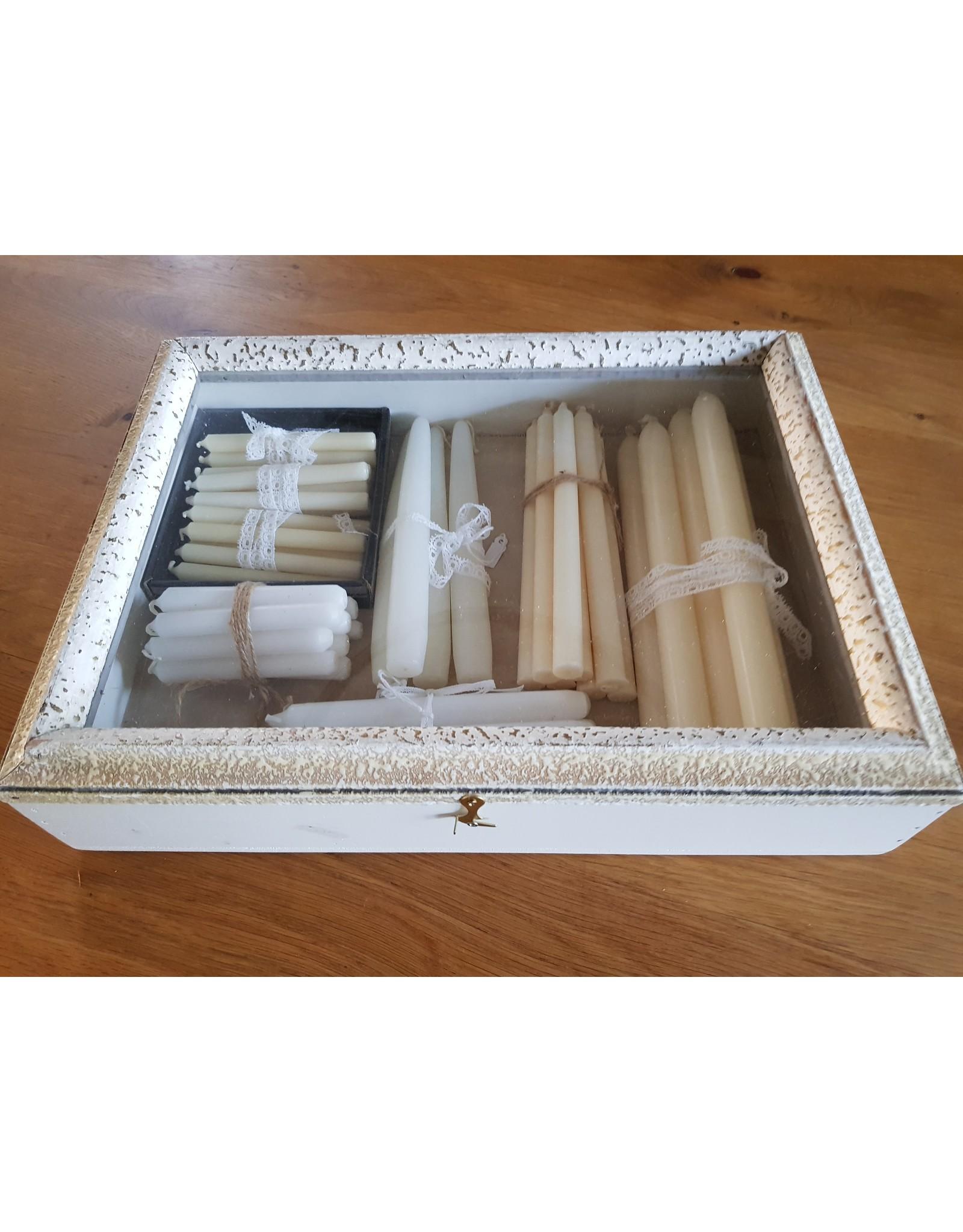 Guinevere Houten pronkkastje vitrinekastje