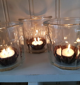 Franse glazen confituren potten