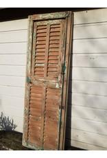 Franse doorleefd houten luik shutter