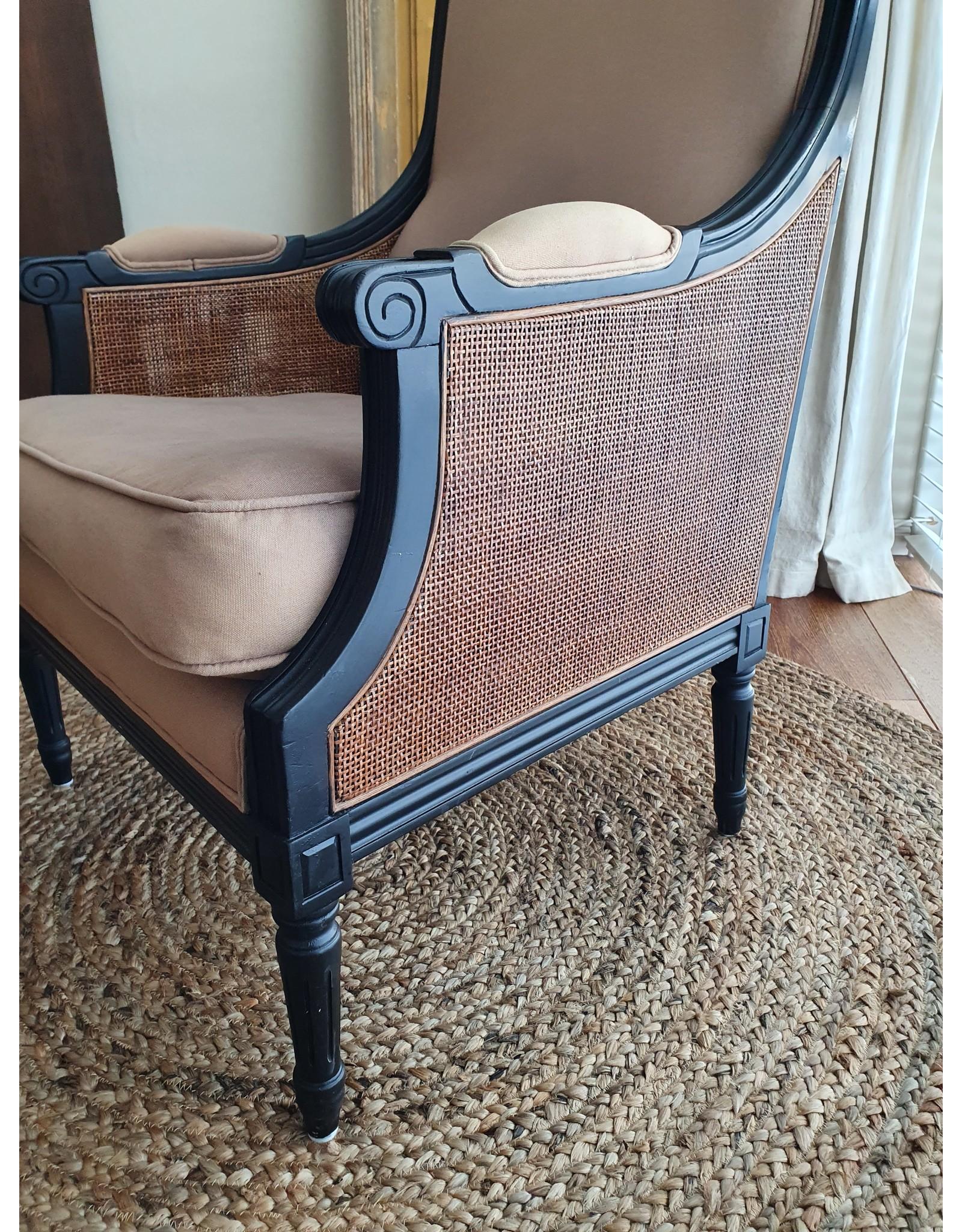 Brocante fauteuil landelijke stijl