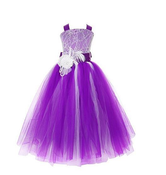 Meisjeskleding Meisjes Feestjurk Lizzy - paars