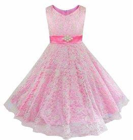 Meisjeskleding Feestjurk Emma - roze