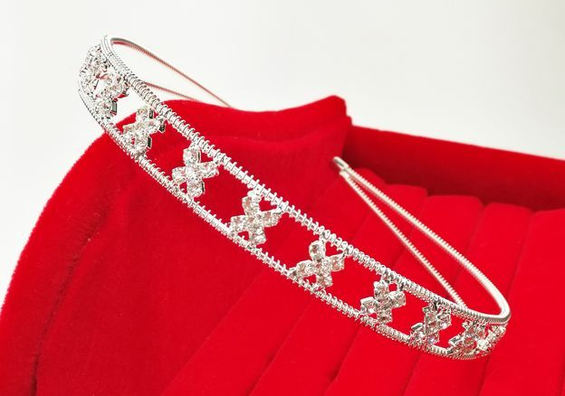 Haardecoratie Accessoires voor meisjes - Strass Diadeem / Tiara - SD-07