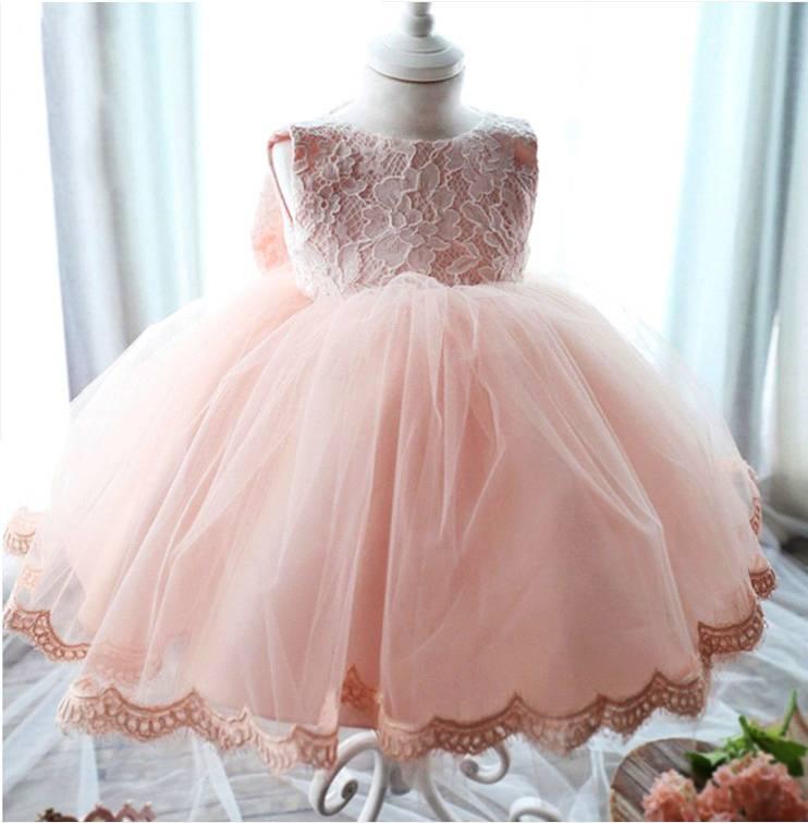 Meisjeskleding Meisjes Feestjurk Lena - roze