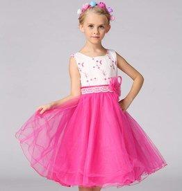 Meisjeskleding Feestjurk Mila - fuchsia