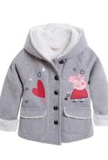 Meisjeskleding Peppa Pig Meisjesjas - grijs