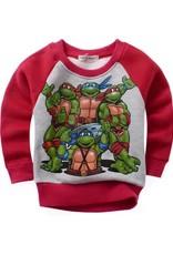 Jongenskleding Teenage Mutant Ninja Turtles Jongens Sweater - rood