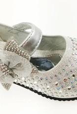Meisjesschoenen Meisjesschoen met strass steentjes - zilver