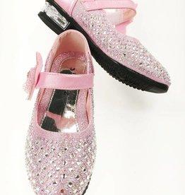 Meisjesschoenen Meisjesschoen met strass steentjes - roze