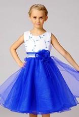 Meisjeskleding Meisjes Feestjurk Mila - blauw