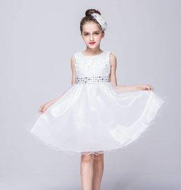 Meisjeskleding Feestjurk Merlijn - wit