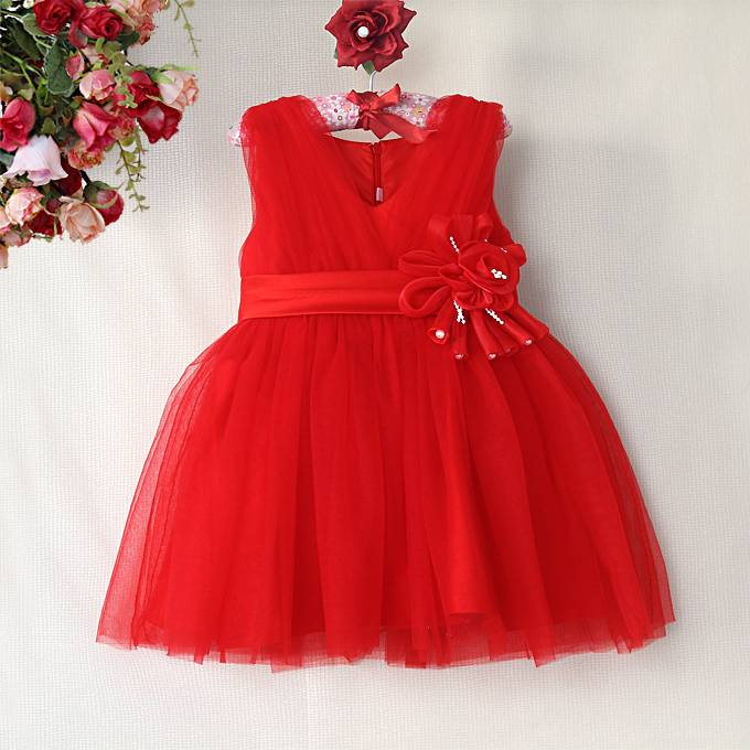Meisjeskleding Meisjes Feestjurk Melanie - rood