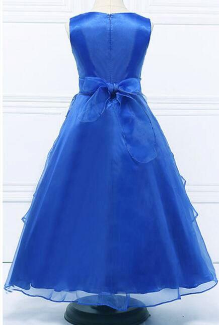 Meisjeskleding Meisjes Feestjurk Esmeralda - blauw