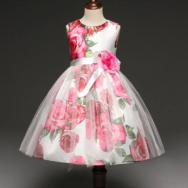 Meisjeskleding Meisjes Feestjurk Rosanne - roze
