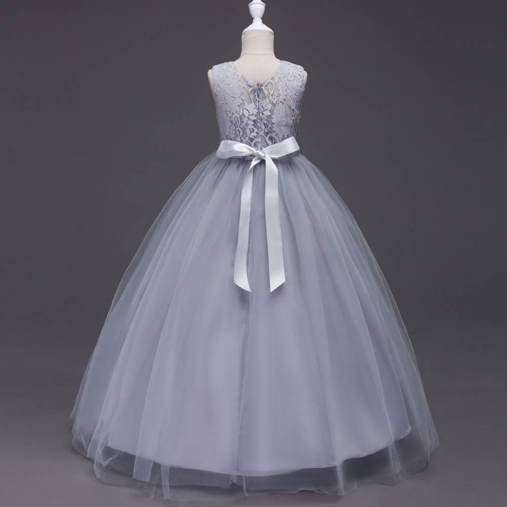 Meisjeskleding Meisjes Feestjurk Victoria - grijs