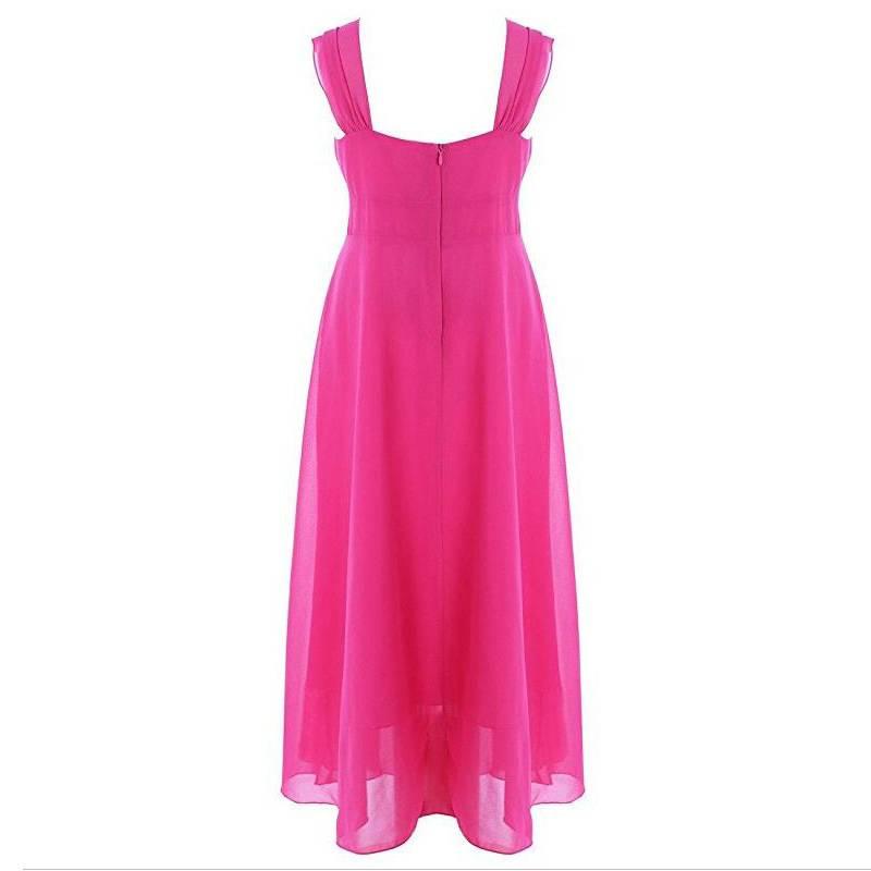 Meisjeskleding Meisjes Feestjurk Lilly - donkerroze (fuchsia)