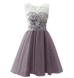 Meisjeskleding Feestjurk Julia - grijs