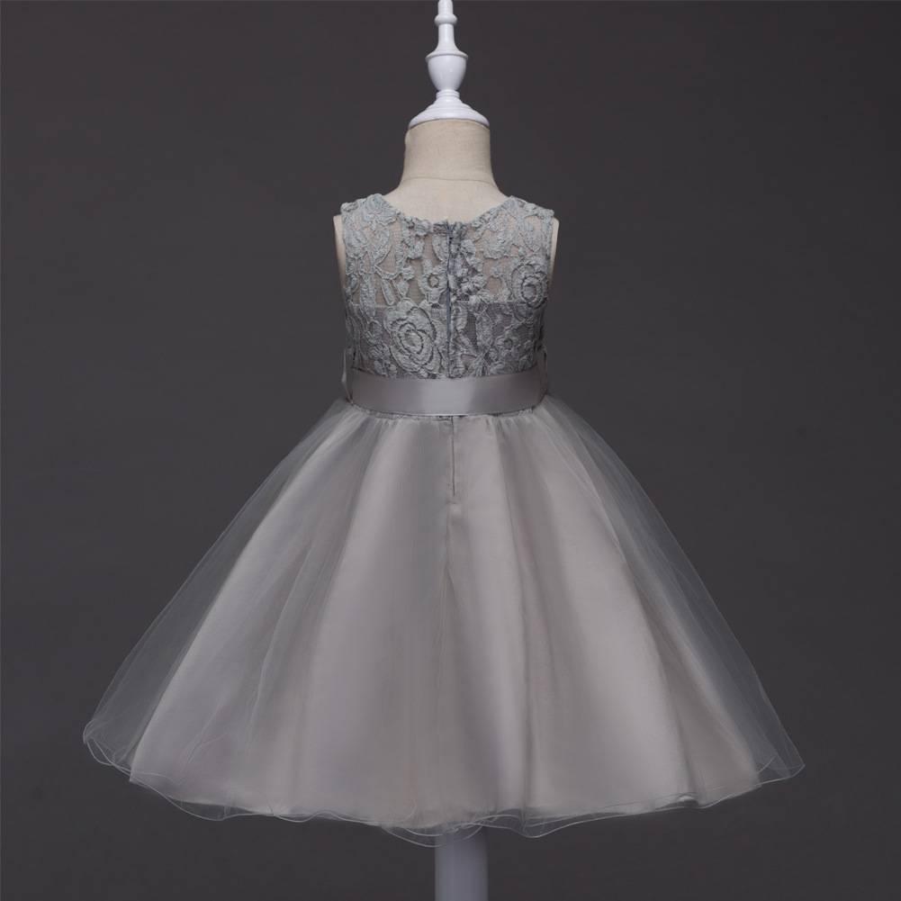 Meisjeskleding Meisjes Feestjurk Romy - grijs