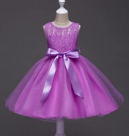 Meisjeskleding Feestjurk Romy - paars