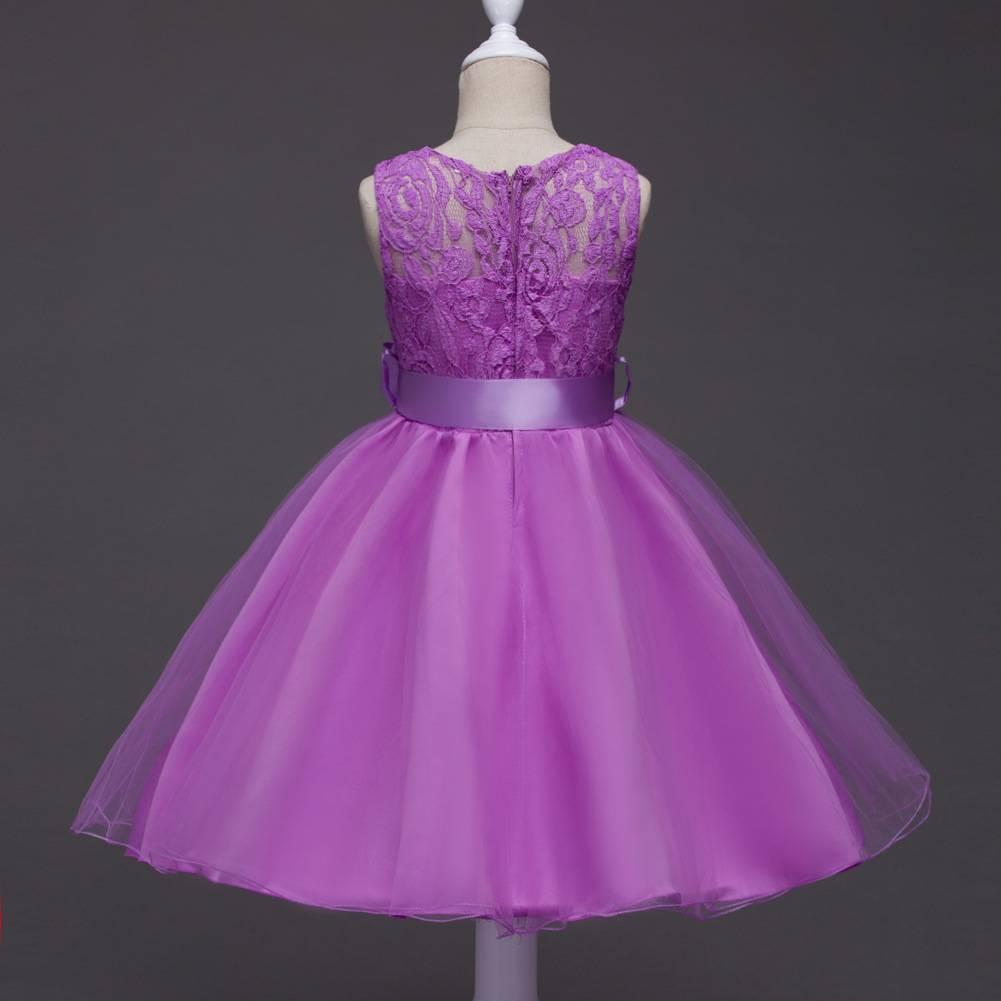 Meisjeskleding Meisjes Feestjurk Romy - paars