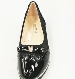 Meisjesschoenen Ballerina's - lak - glitter - zwart