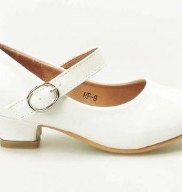 Meisjesschoenen Spaanse schoentjes - lak - wit